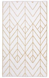 Sydney Gold and Cream Outdoor Rug